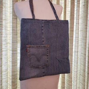 Blue Jean Bag / Recycled Denim Tote Bag